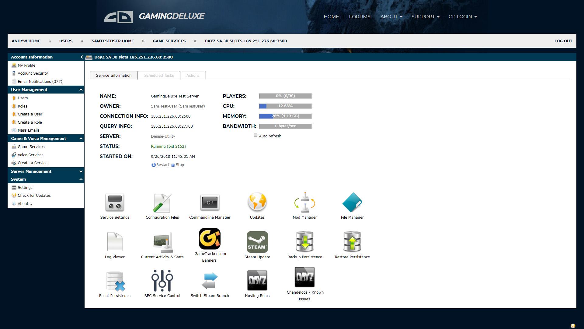 Gaming Deluxe LTD  Game Servers, Dedicated Servers, Web Hosting